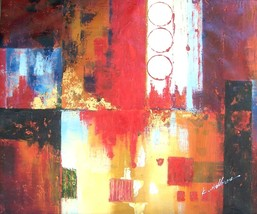 Original & Signed large abstract art painting by K. Hillman - $961.99