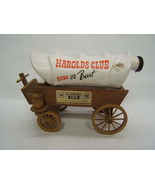 Harold's Club Casino Covered Wagon Decanter by Jim Beam - $12.00