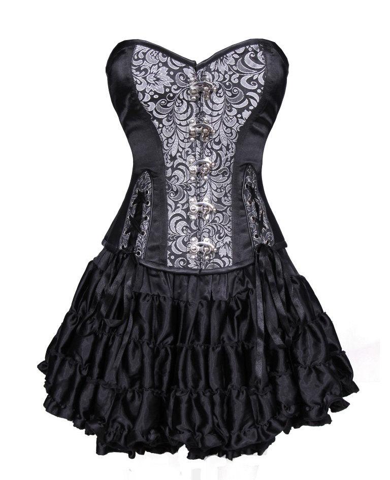 tutu torso overbust gothic corset dress dresses
