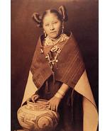 Hopi Girl & Jar 22x30 Edward Curtis Native American Indian Art Print - $64.33