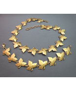 Stunning Monet Leaf Motif Set Necklace Bracelet... - $49.49