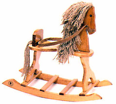 """Boyds Bears Accessory """"Giddy Up Rocking Horse""""-  Small Wooden Horse- Ret... - $21.99"""