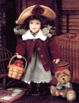 "Boyds Yesterdays Child ""Candice w/Macintosh""- #4923- 16"" Doll-1998-Retired - $69.99"