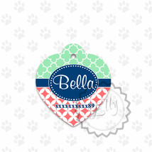 Unisex pet tags, metal ID tags for all pets, two sides printed tags - $8.99