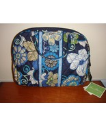 Vera Bradley Mod Floral Blue Purse Cosmetic Case - $36.49