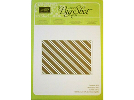Stampin' Up! Textured Impressions Embossing Folder Stylish Stripes #132174 - $4.99