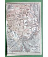 1904 MAP ORIGINAL Baedeker - GERMANY Gorlitz Town Plan Görlitz - $5.07