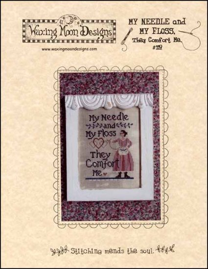 My Needles And My Floss cross stitch chart Waxing Moon Designs
