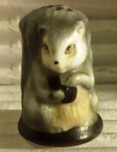 Squirrel Vintage Franklin Mint FP Friends of the Forest Thimble Porcelai... - $9.50