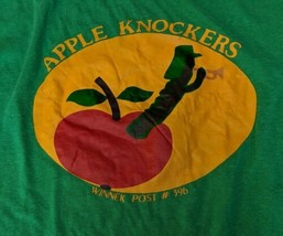 Apple Knockers Winnek Post 396 American Legion Green Buffalo NY 50/50 T ... - $28.04