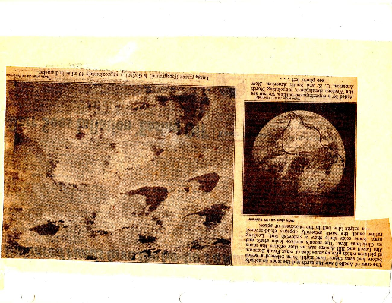 Apollo 8 - News clippings and Photo's