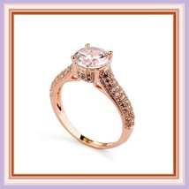 Brilliant Sparkle Crystal CZ Crown Set Pave Encrusted Jeweled Betrothal Ring  image 1