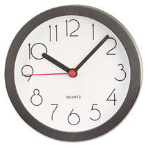 "Universal Cubicle Quartz Wall Clock, 6"""", Black... - $14.95"