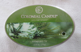 Colonial Candle Simmer Snaps EMERALD FIR 2.4 oz Oval 6 snaps, tarts, wax... - $6.00