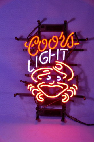 New Coors Light Crab Logo Beer Bar Pub Neon Light Sign 19
