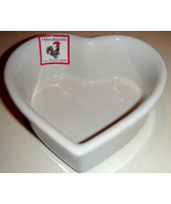 White Heart-Shaped Stoneware Ramekin by Eurogres Coche - $6.00