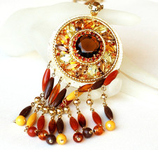 Hobe Huge Rhinestone Pendant Necklace - $95.00