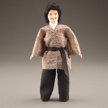 Dollhouse Dressed Asian Man DHS1646 Caco Flexible Japanese Happi Coat Traditionl - $53.00