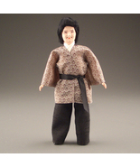 Dollhouse Dressed Asian Man DHS1646 Caco Flexible Japanese Happi Coat Tr... - $53.00