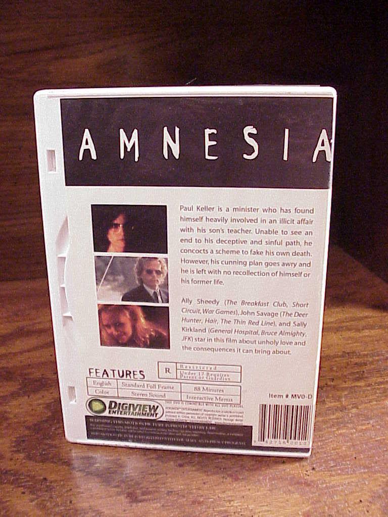 Ally Sheedy Fakes amnesia movie dvd, 1997, with ally sheedy and 50 similar items
