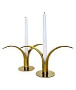 Ystad Metall Vintage Brass Candleholders, Sweden - $295.00