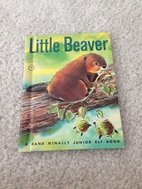 Vintage Childrens Book Little Beaver Junior Elf Rand Mcnally 8100 Old 19... - $7.12