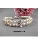 Bridal bracelet, Wedding jewelry, bridesmaids gifts, Swarovski pearls br... - $34.00