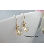 Champagne Earrings - Golden Shadow earrings Crystal Swarovski Earrings -... - $20.00