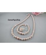 Bridesmaid jewelry set, Swarovski pearls, Necklace bracelets earrings, B... - $76.95