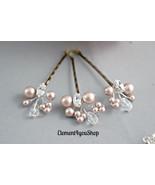Bridal Hair Pins. Pearl Rhinestones Crystals Pins. Cluster Pearl Hair Cl... - $24.00