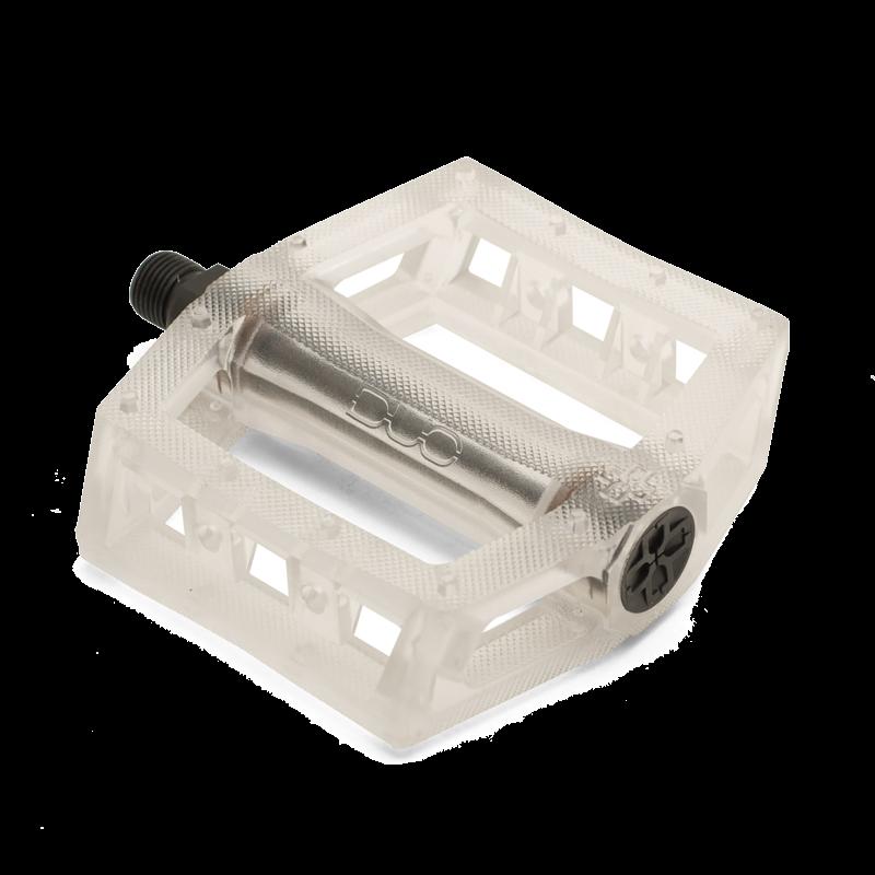 """WHITE DUO RESILITE Plastic BMX pedals 9//16/"""""""