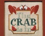 The Crab Is In Moon-Lite cross stitch chart Waxing Moon Designs