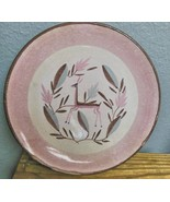 """Mid Century Dessert Plate Made in Germany Deer 7.5"""" Pink and Brown - $15.00"""