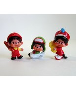 Lot of 3 Mini 1979 Mattel Sekiguchi Monchhichi PVC -Bread Boy -Cymbalist... - $13.99