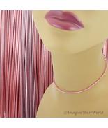 2 mm Metallic Mystique Pink Leather Cord Necklace Custom Length pick Cla... - $4.25+
