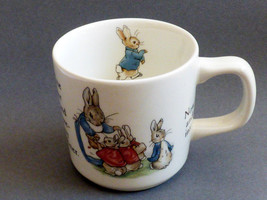 Wedgwood England porcelain Beatrix Potter story Peter Rabbit chid cup mug - $27.72