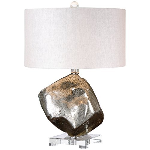 Uttermost 26605-1 Everly Glass Table Lamp, Gray