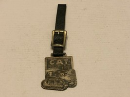 Vintage Watch Fob - CAT Caterpillar track-type Tractor - $17.00