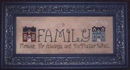 Family Forever cross stitch chart Waxing Moon Designs - $7.20