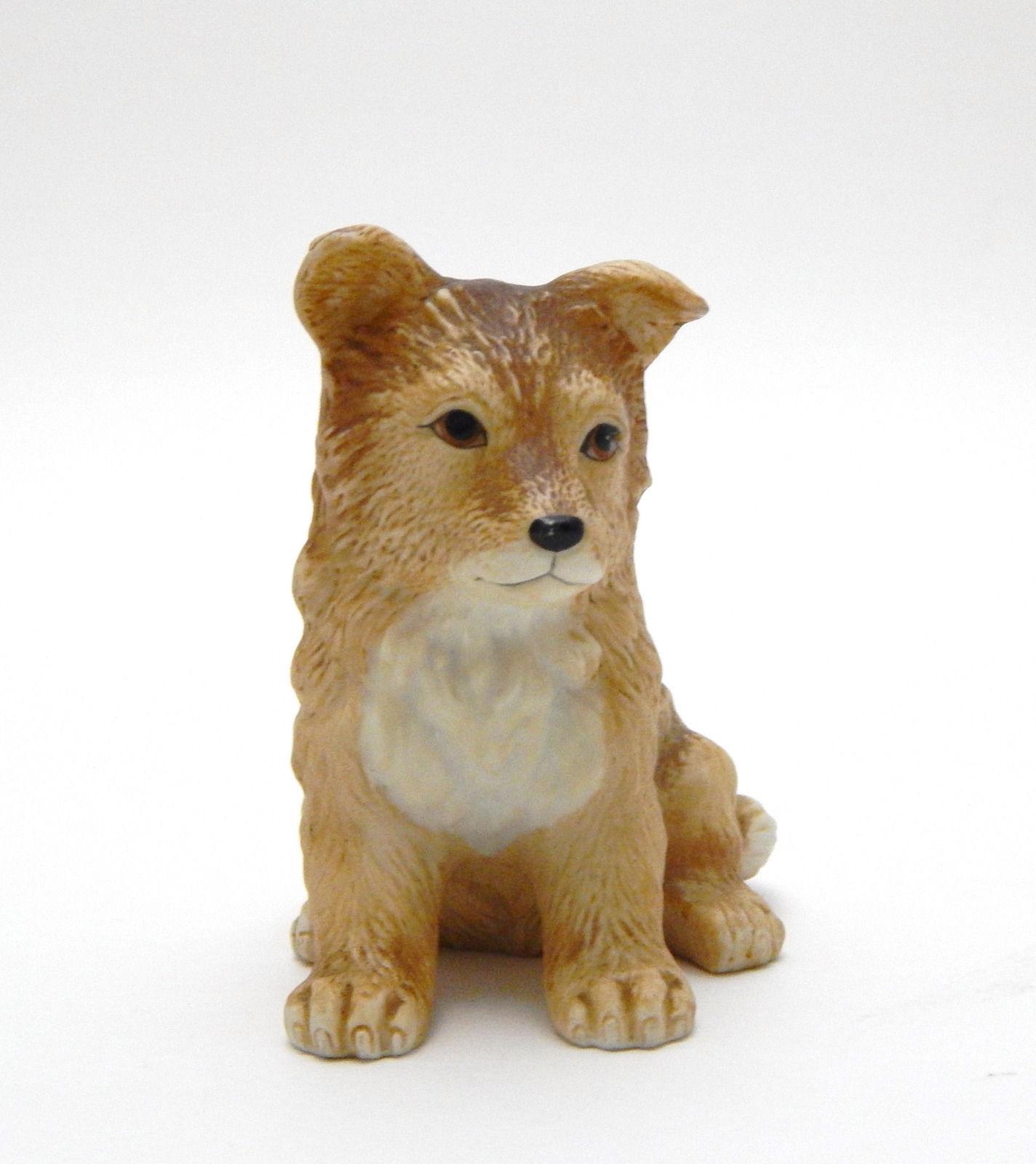 Collie Sheltie Dog Pup Figurine Homco 8828 very good cond. Vintage