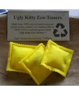 Ugly Kitty Eco-Tossers - Lemon Yellow - Free Shipping - - $8.00