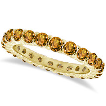 1CT Citrine Eternity Ring 14K Yellow Gold - $594.96+