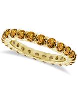 1CT Citrine Eternity Ring 14K Yellow Gold - $594.96+