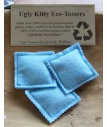 Ugly Kitty Eco-Tossers - Baby Blue - Free Shipping - - $8.00
