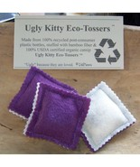 Ugly Kitty Eco-Tossers - Eggplant Power - Free Shippi - $8.00