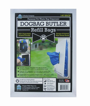 Doggie Walk Bags Butler - Refills 2 Pouches, Blue/Powder, 140 bags - $29.44
