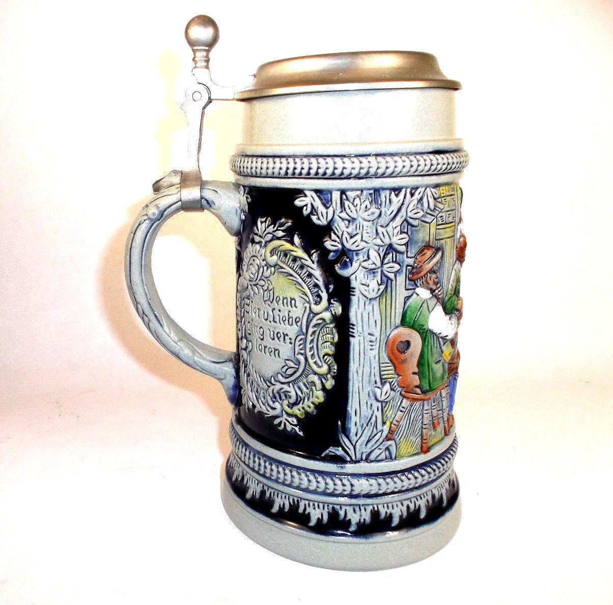 Original king beer stein vintage drinking stein beer mug for Steinbeet steine