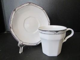 Studio Nova Dinnerware Teacup And Saucer Y0031 Synthesis Pattern Nice - $2.92