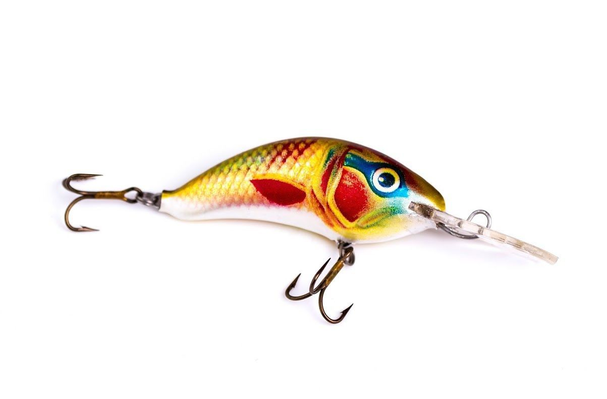 4 ugly duckling fishing lures hand painted balsa wood for Bass fishing tackle
