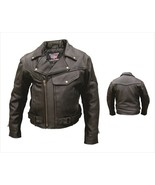 Allstate Leather Mens Naked Leather Pistol Pete Motorcycle Jacket AL2042 - $216.00+